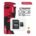 Карта памяти Kingston SDCS/128GB Class 10 + адаптер SD