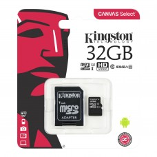 Карта памяти Kingston SDCS/32GB Class 10 + адаптер SD